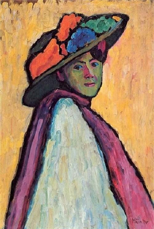 Gabriele Munter, Portrait of Marianne von Werefkin, 1909