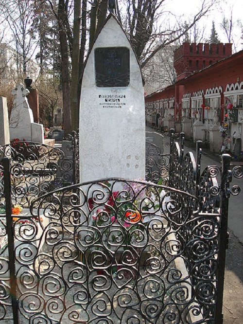 Grave of Anton Chekhov at Novodevichy Cemetery in Moscow
