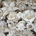 Hyperrealistic porcelain flowers