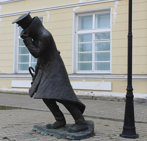 In Taganrog was erected a monument to 'A Man in the Box', a character of his story