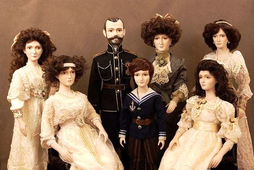Historical dolls of Olina Ventsel. Nicholas II of Russia and his family
