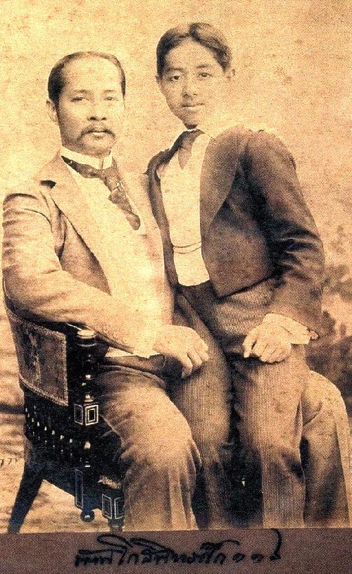 Prince Chakrobon with his father, King Rama V