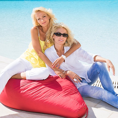 Two beautiful blondes Svetlana and Polina. A mother and daughter