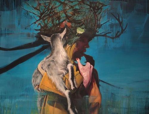 Hyperrealistic painting by Italian artist Lorella Paleni
