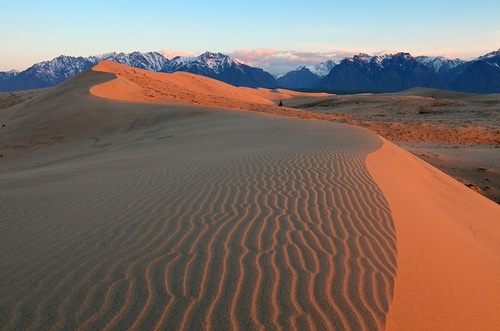 Siberian desert Chara Sands, photo by Alexander Savchenko