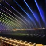 Beautiful Moon Rainbow jet fountain bridge in Seul