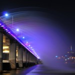 Moon Rainbow fountain-bridge in Seoul
