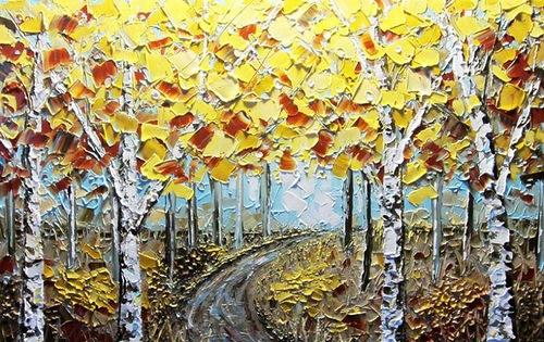Textured paintings by Christine Krainock