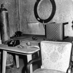 Inside Hitler and Eva Braun's Bunker. Vandivert was the first Western photographer to gain access to Hitler's Fuhrerbunker after the fall of Berlin