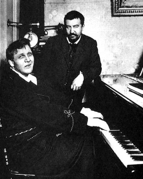 Chaliapin and great Russian writer A.I.Kuprin