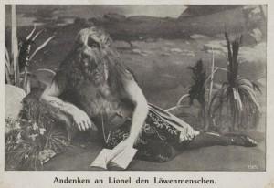 1918 Lionel the Lion Faced Boy