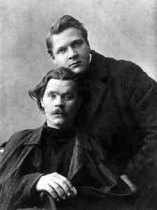 Chaliapin and Maxim Gorky