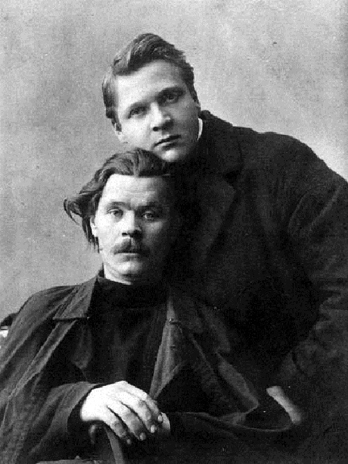 Fyodor Ivanovich Shalyapin and Maxim Gorky