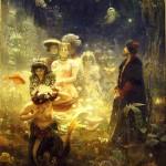 Sadko. Painting by Ilya Repin on the Russian tale Sadko