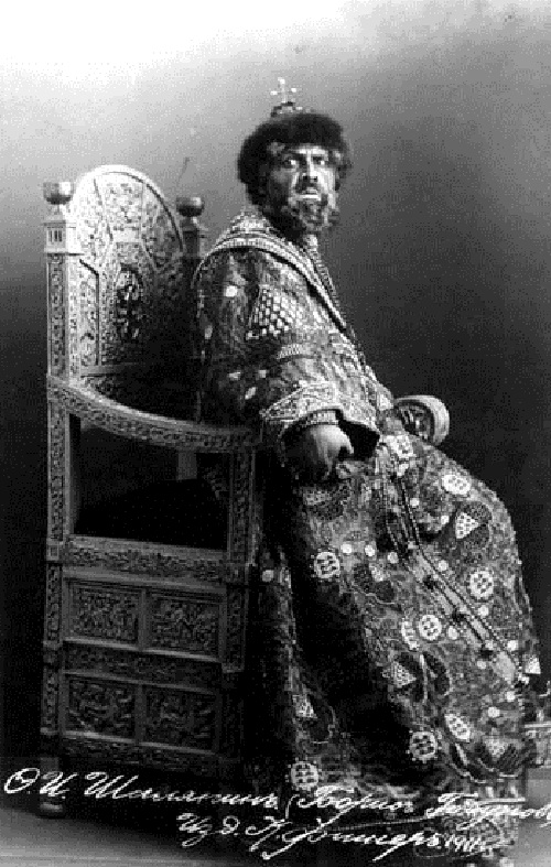 Chaliapin as Tsar Boris Godunov