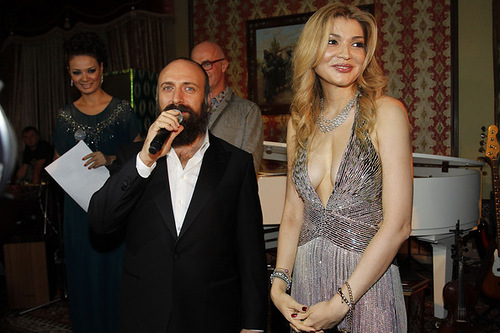 Actor Khalid Ergench and Gulnara Karimova