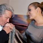 Alain Delon and Karimova