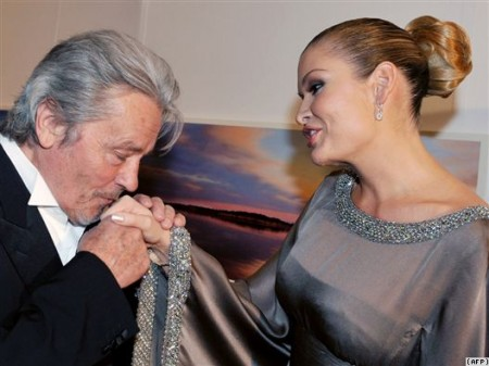 Alain Delon and Karimova