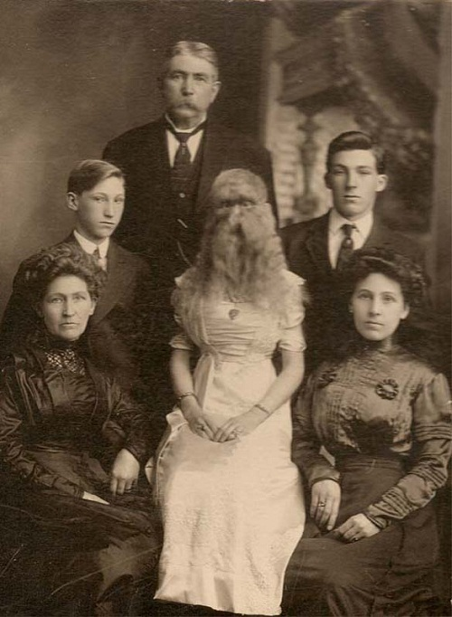 Hairy men and their fate. Alice with family
