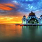 Beautiful Malacca Strait Mosque