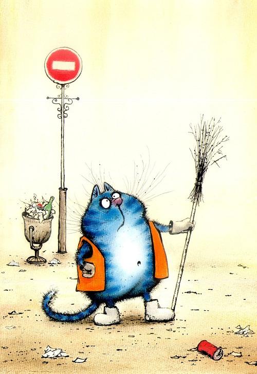 Blue cats by Rina Z