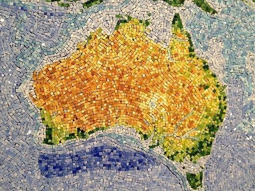 Gem map of Australia