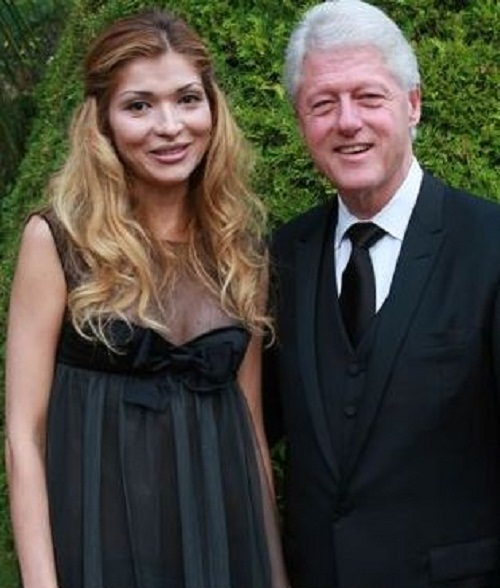 Gulnara Karimova and Bill Clinton, Cannes film festival, 2009