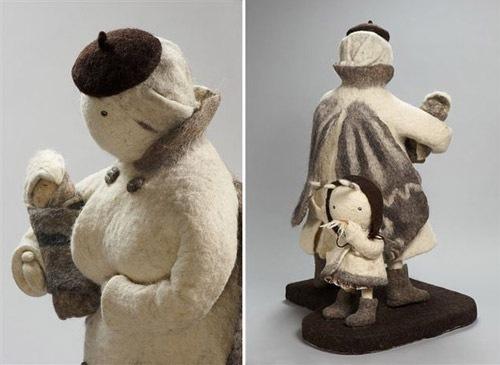 Felted sculpture by Irina Andreeva