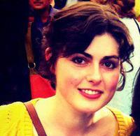 Beautiful artist Lily Greenwood