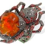 Lydia Courteille spider ring in fire opal orange