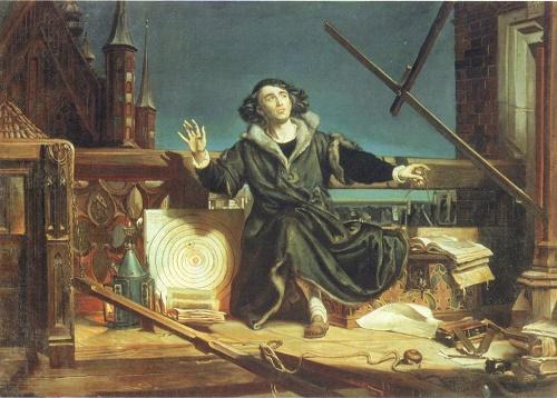 Nicolaus Copernicus. Painting by Polish artist Jan Matejko