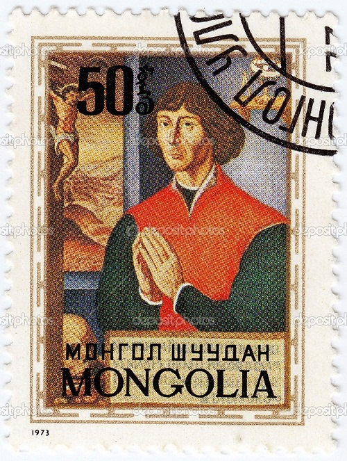 Mongolia postage stamp depicts Copernicus