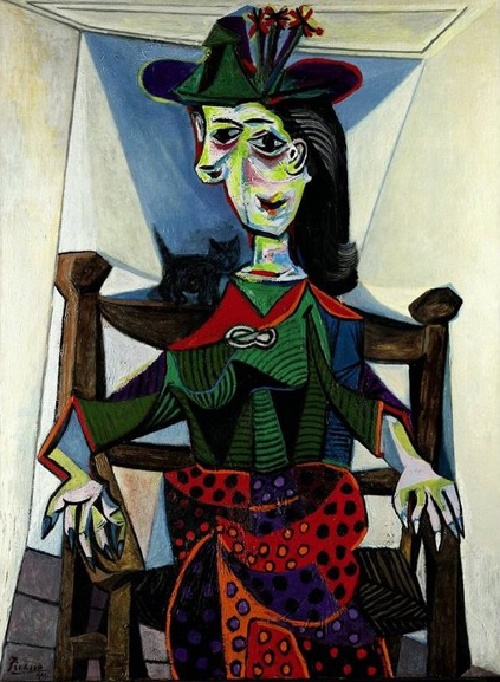 Pablo Picasso. Dora Maar with cat, 1941. Sold at Sotheby's in 2006 for $95,2 million. Belongs to the founder of the Russian Credit Bank and 'Metalloinvest' Boris Ivanishvili