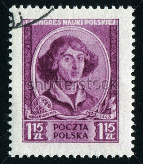 Polish stamp depicting Copernicus