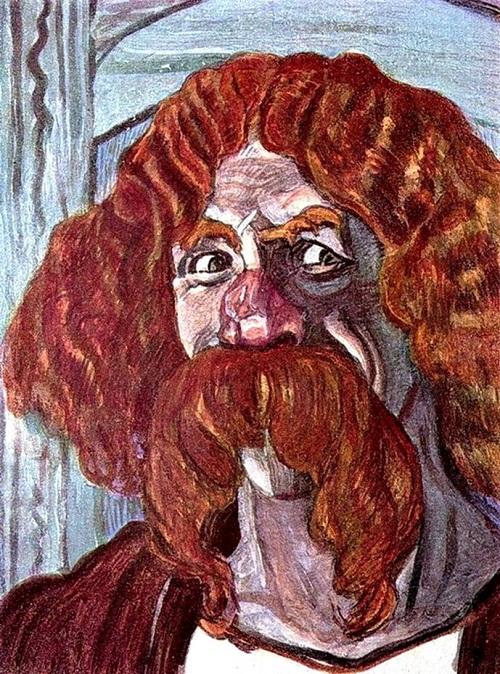 Portrait Chaliapin as Farlaf. Artist Golovin