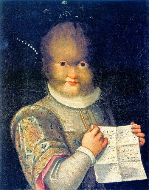 Portrait of Antonietta Gonzales (or Gonsalvus), Lavinia Fontana, ca. 1595. Blois, Musée du Chateau de Blois