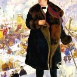 Portrait of Chaliapin by Boris Kustodiev.