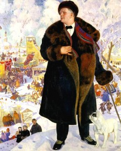 Portrait of Chaliapin by Boris Kustodiev.