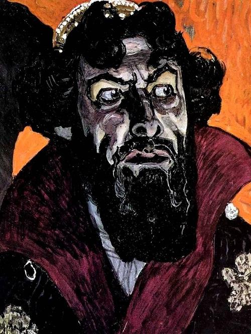 Portrait of Fyodor Ivanovich Shalyapin as Boris Godunov. Artist Golovin