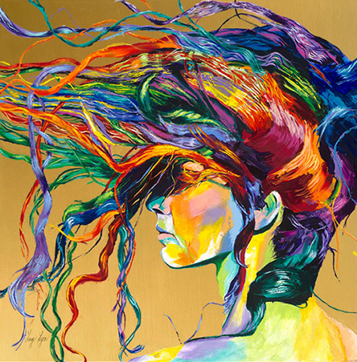 Rainbow Paintings by English artist Linzi Lynn