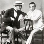 Shalyapin and Sergei Rachmaninoff. 1898