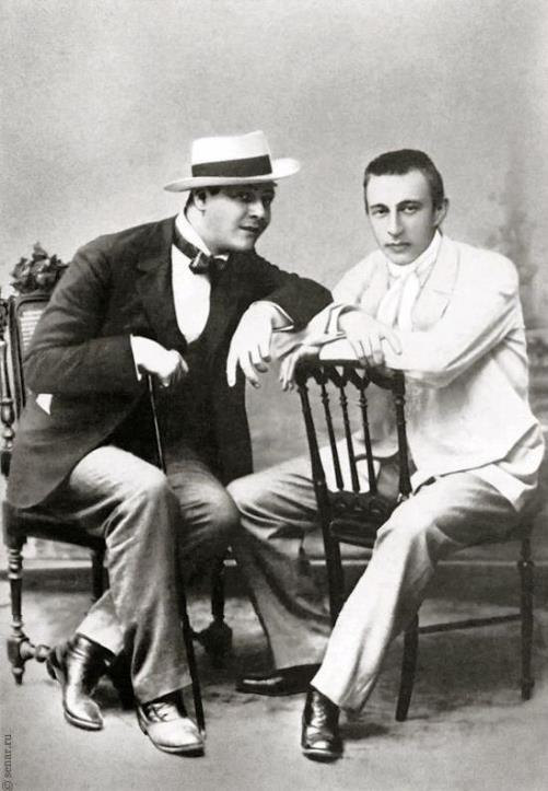 Shalyapin and Sergei Rachmaninoff. 1898