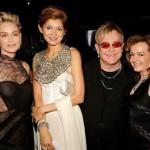 Sharon Stone, Gulnara Karimova, Elton John and Chopard co-president Caroline Gruosi-Scheufele.