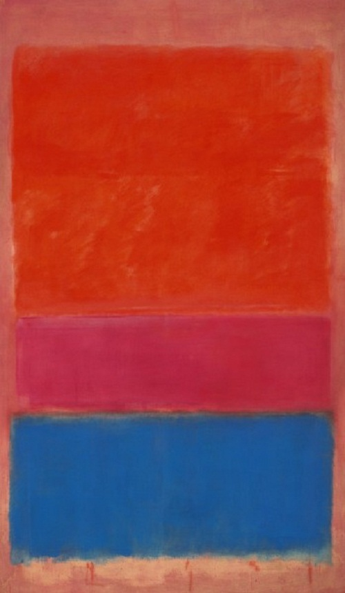 Paintings by Mark Rothko. Royal Red and Blue