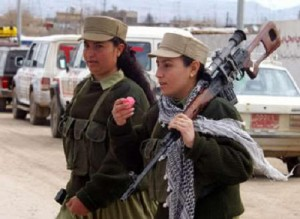 The first Sirian battalion formed of Kurdish women