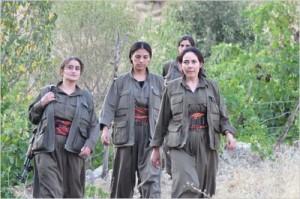 The first Sirian battalion formed of Kurdish women