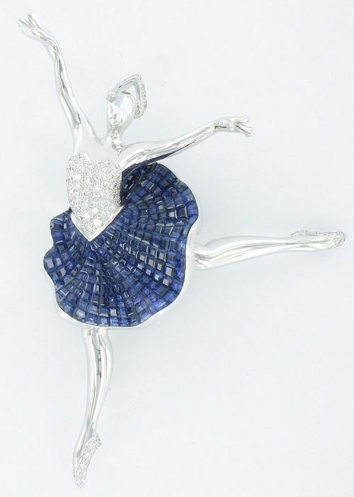 Van Cleef Arpels Daphnis ballerina clip