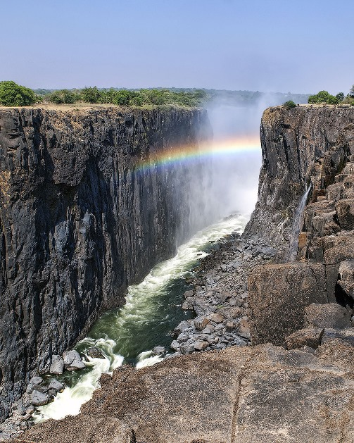 Victoria Falls, the largest and most beautiful and famous waterfalls in the world