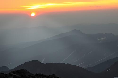 View from the Koryak volcano to volcano Arik, Kamchatka
