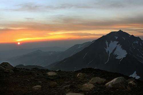 View from the Koryak volcano to volcano Arik